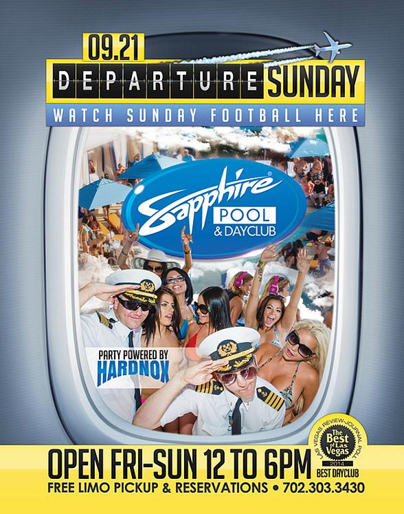 "Sapphire Pool & Day Club to Host ""Departure Sunday"" with Music by HardNox Sept. 21"