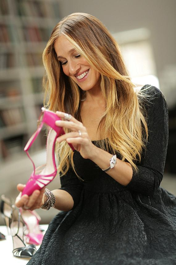 Sarah Jessica Parker with the Carrie shoe