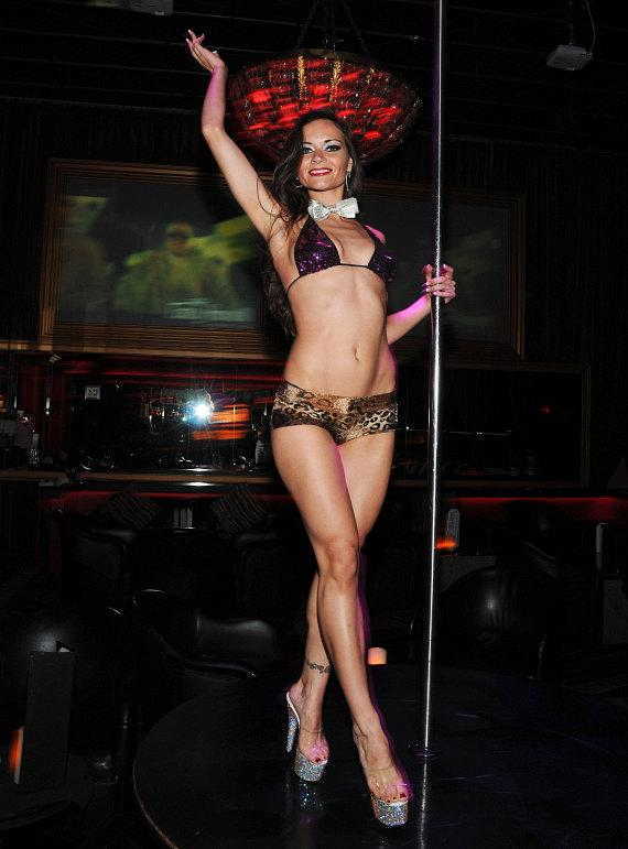 Sarah Tressler on pole at Crazy Horse III in Las Vegas
