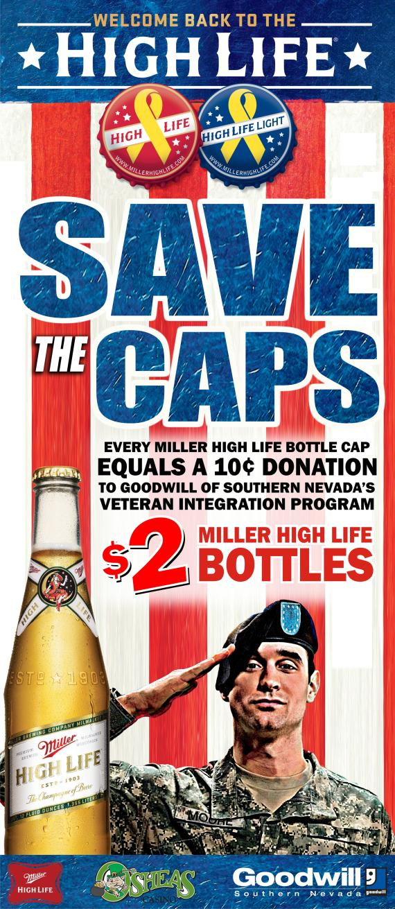 Save Miller High Life Bottle Caps and Help Local Veterans Get Back to Work