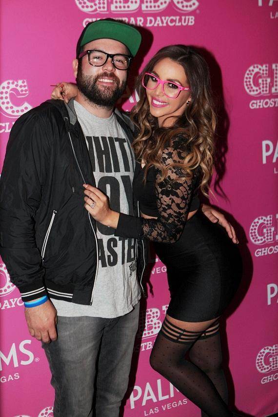 Scheana Marie and husband Mike Shay arrive at Ghostbar Dayclub
