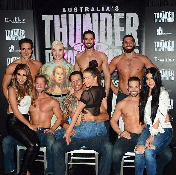 "Scheana Shay and Chester Lockhart Stars of ""Sex Tips for Straight Women from a Gay Man"" at Thunder from Down Under"