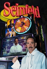 "Larry ""Soup Nazi"" Thomas helps unveil new Seinfeld Slot Machine at Global Gaming Expo in Las Vegas"