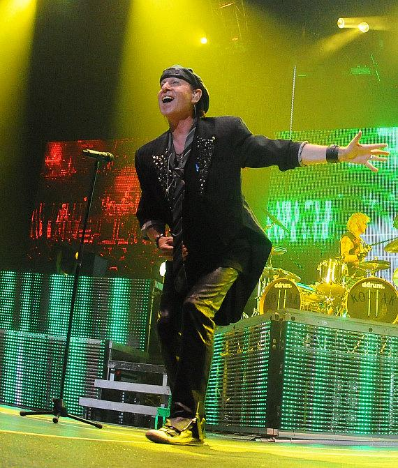 Scorpions perform at the Thomas & Mack Center on their 'Final Sting Tour'