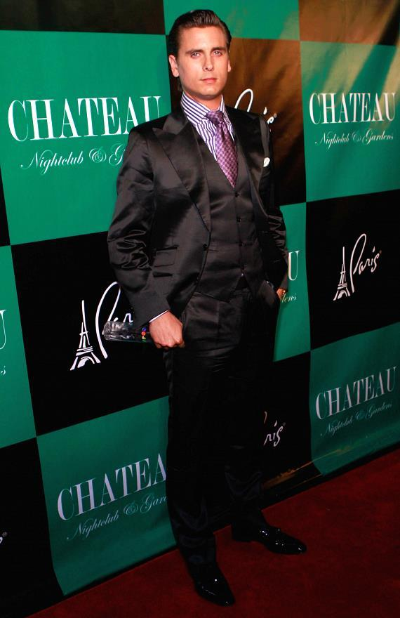 Scott Disick walks the red carpet at Chateau Nightclub & Gardens
