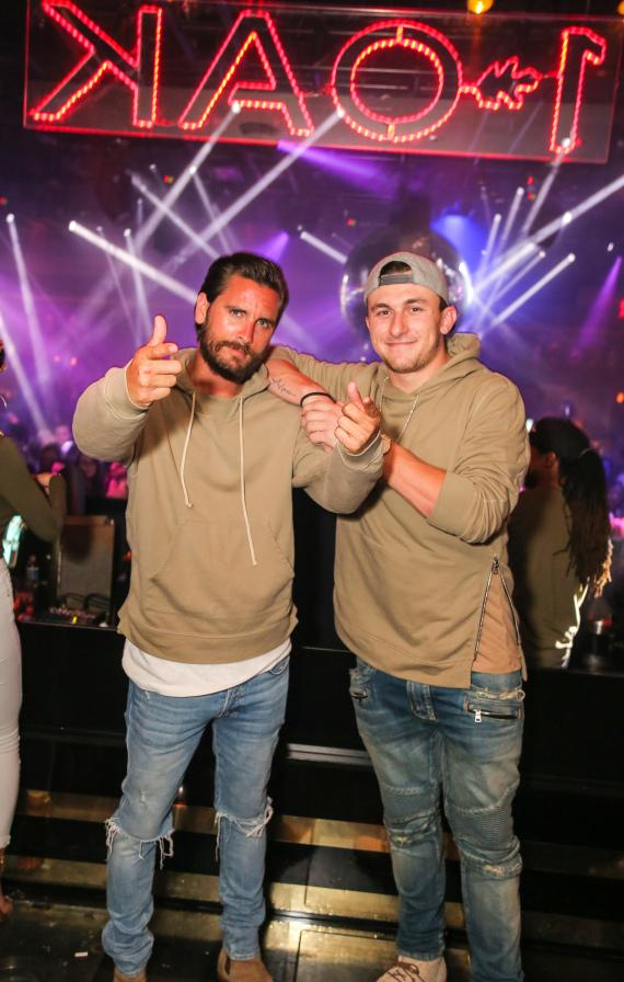 Scott Disick and Johnny Manziel at 1 OAK Las Vegas inside The Mirage