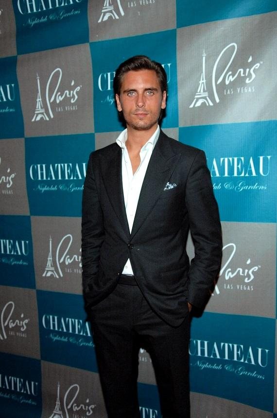 Scott Disick on the red carpet at Chateau Nightclub & Gardens