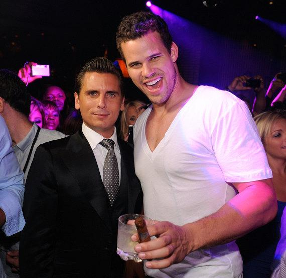 Scott Disick and Kris Humphries at LAVO