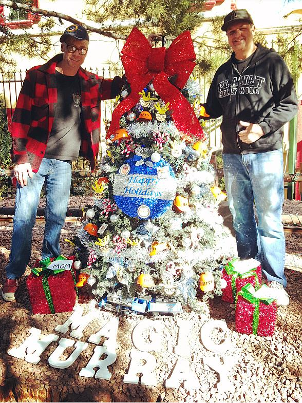 Murray the Magician Decorates Christmas Tree at Opportunity Village Magical Forest in Las Vegas