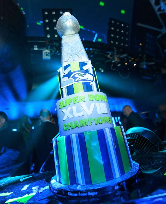 Seahawks Cake at Hakkasan Nightclub