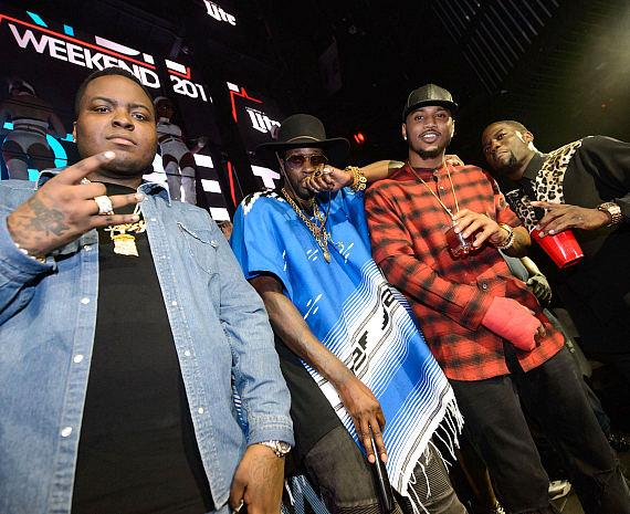 Sean Kingston, 2 Chainz, Trey Songz and Kevin Hart at Marquee