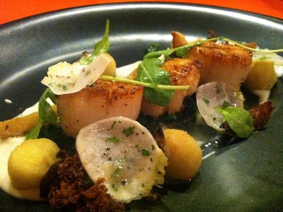 Seared Sea Scallops and Caramelized Brussel Sprouts