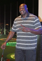 Basketball Legend Shaquille O'Neal Spotted at Topgolf Las Vegas