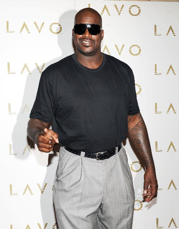 Shaquille O'Neal on the red carpet at LAVO