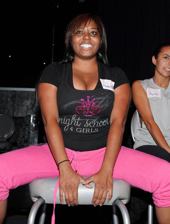 Shar Jackson at Night School 4 Girls Stripper/Pole Dancing Class at Excalibur