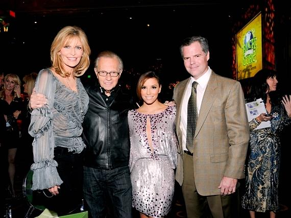 Shawn King, Larry King, Eva Longoria-Parker and Jim Murren at Nevada Cancer Institute's Rock for the Cure Las Vegas