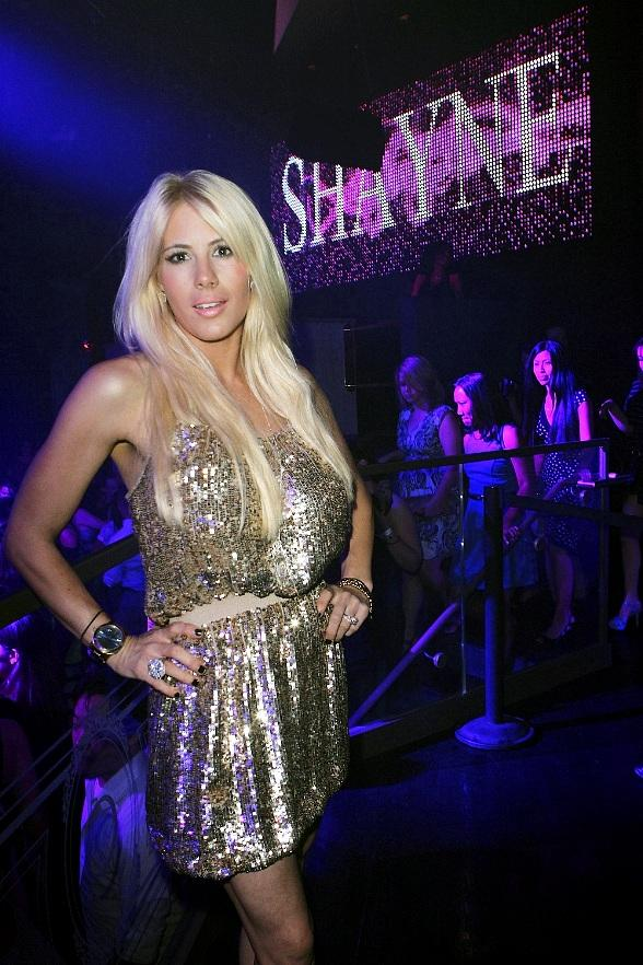 Shayne Lamas poses inside Chateau Nightclub & Gardens