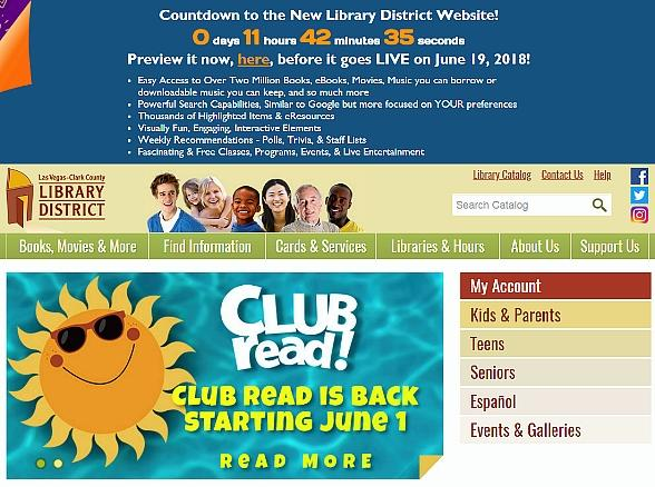 Las Vegas-Clark County Library District to Launch Official Web Site on June 19