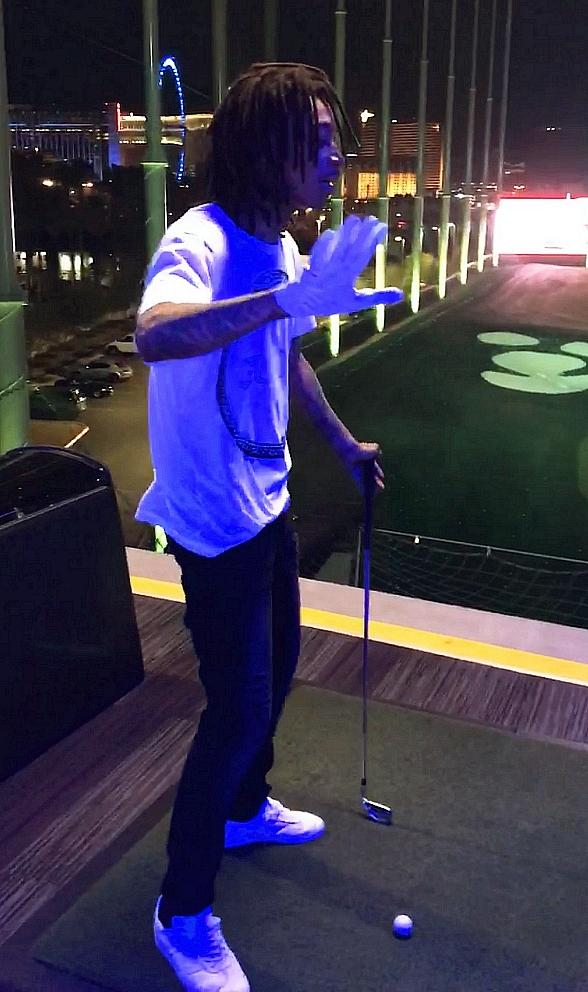 Wiz Khalifa Plays the Topgolf Game in Las Vegas