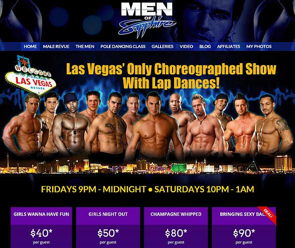 """Men of Sapphire"" Male Revue Launches New Website at MenOfSapphire.com"