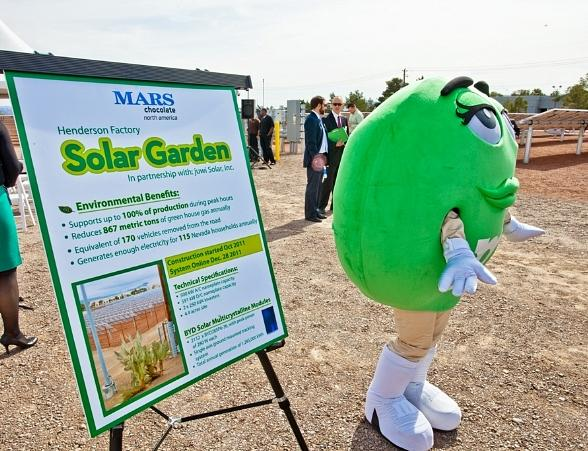 Mars Chocolate North America, makers of Las Vegas' own Ethel M Chocolates, announced today the grand opening of a new solar garden at its Henderson chocolate factory