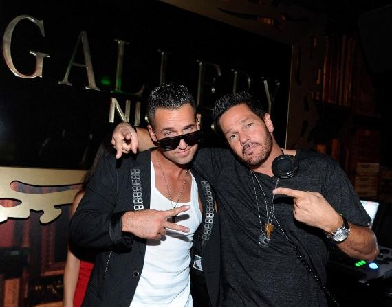 """Mike """"The Situation""""  Sorrentino in DJ booth at Gallery Nightclub in Las Vegas"""