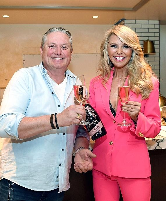 Christie Brinkley and SW President and CEO Michael Feighery