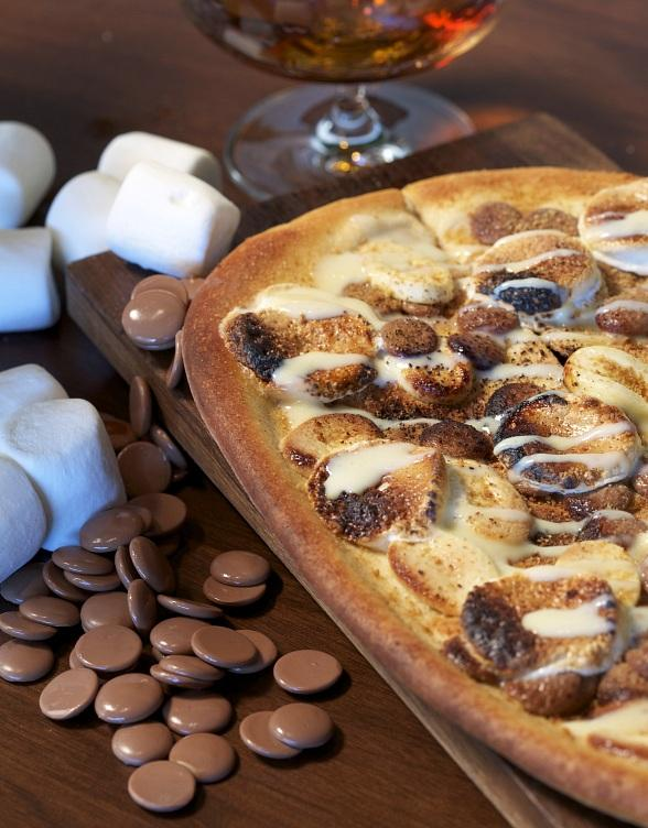 Celebrate National S'mores Day on August 10 with Delicious S'mores Flatbread at La Cave Wine & Food Hideaway
