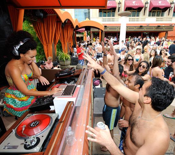 Solange Knowles at TAO Beach