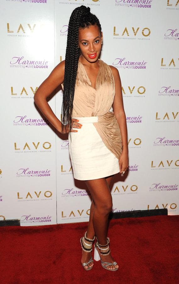 Solange Knowles on LAVO red carpet