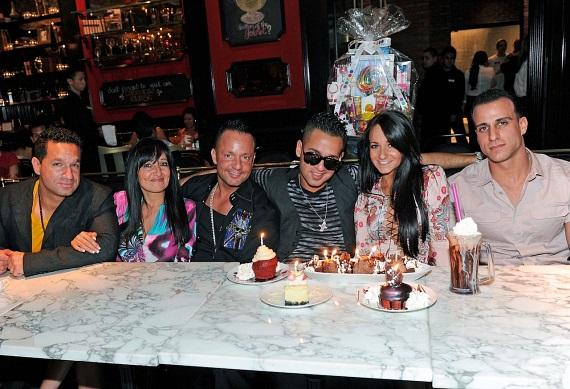 The Sorrentino Family (L to R: Marc, Linda, Frank Jr., Mike, Melissa) and Melissa's boyfriend, Michael Sussman