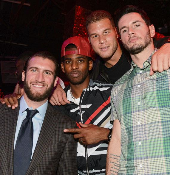 Spencer Hawes, Chris Paul, Blake Griffin at TAO
