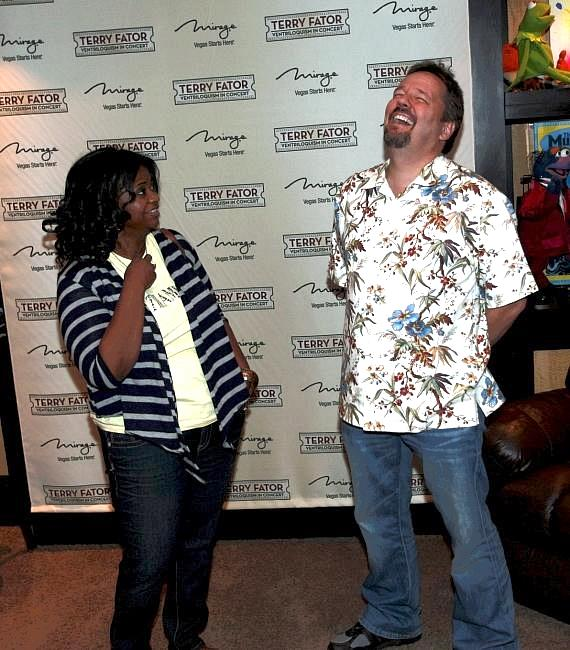 "Octavia Spencer and Terry Fator backstage at ""Terry Fator: Ventriloquism in Concert"""