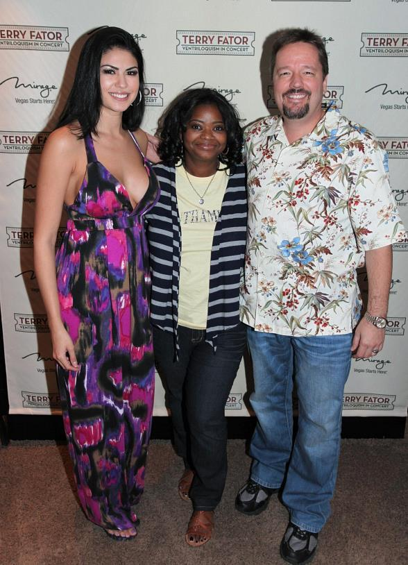 Actress Octavia Spencer Attends Terry Fator Show at The Mirage