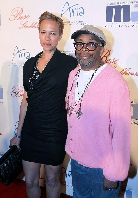 Spike Lee and Tayna Lewis Lee at BESO for MJCI