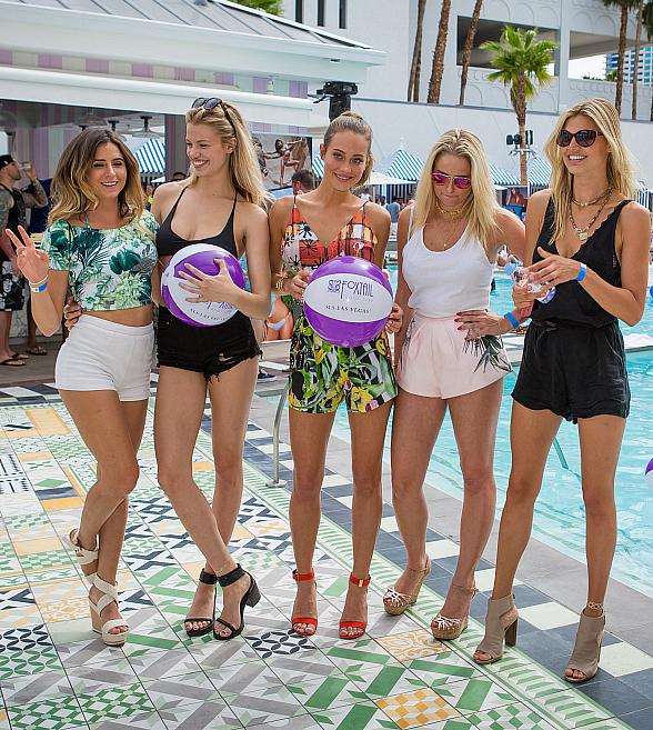 Hannah Davis Hosts Exclusive Sports Illustrated Pool Party at Foxtail Pool Club