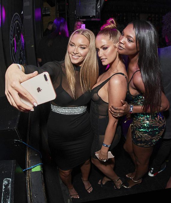 Sports Illustrated Swimsuit models Camille Kostek, Haley Kalil and Jasmyn Wilkins celebrate SI's 2018 Swimsuit Issue with Stoli at Marquee Nightclub in Las Vegas