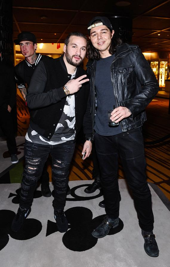 Steve Angello and Max Vangeli at the Reflections pre-party inside Bazaar Casino at SLS Las Vegas
