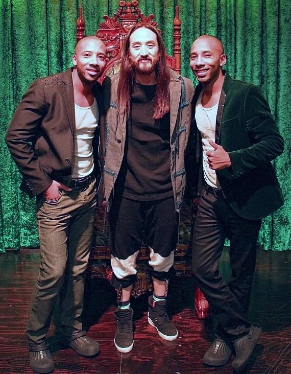 Steve Aoki Attends ABSINTHE at Caesars Palace