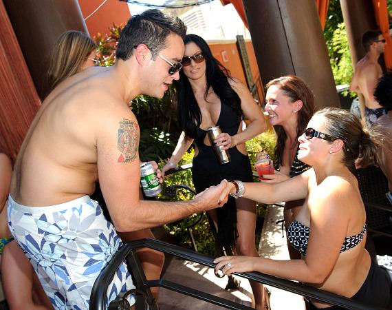 Steve Ward meets fans at TAO Beach