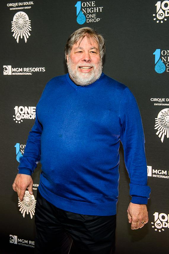 Steve Wozniak at the sixth edition of One Night for One Drop imagined by Cirque du Soleil