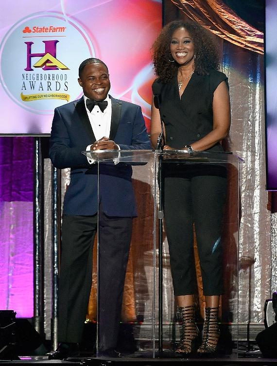 Steve Harvey Morning Show's Junior and Yolanda Adams present at the 2016 State Farm Neighborhood Awards