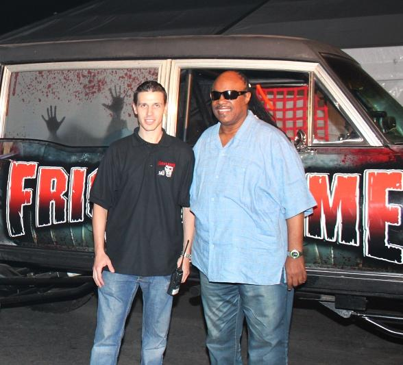 Stevie Wonder Visits Fright Dome in Las Vegas