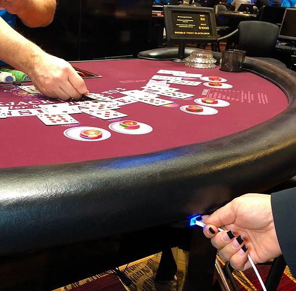 Stratosphere Table Games Now Equipped with Cell Phone Charging Stations