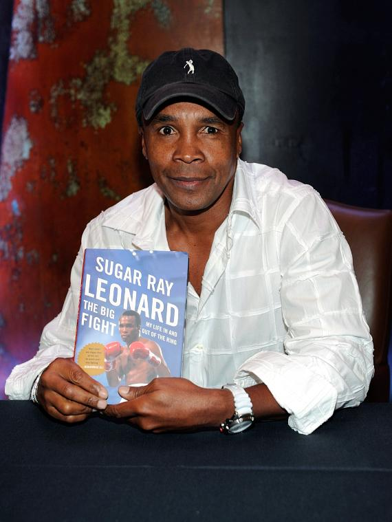 "Olympic Gold Medalist Sugar Ray Leonard with his new book ""The Big Fight: My Life In and Out of the Ring"""