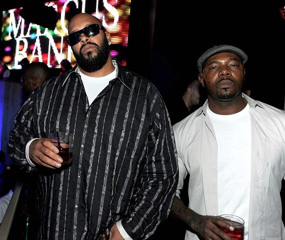 Suge Knight and Antoine Fuqua at Chateau Nightclub & Gardens
