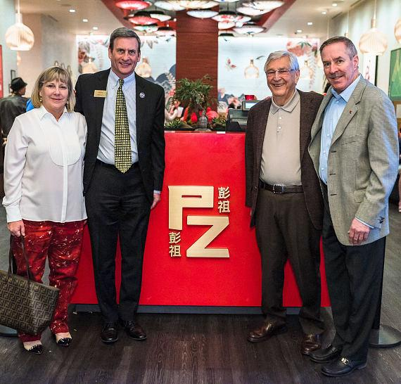 Marianne Johnson, Vice Chairman, Executive Vice President and Chief Diversity Officer, Boyd Gaming; Andre Filosi, Vice President & General Manager, Suncoast; William S. Boyd, Executive Chairman, Boyd Gaming; and William R. Boyd, Vice President, Boyd Gaming celebrate Chinese New Year at Peng Zu inside Suncoast