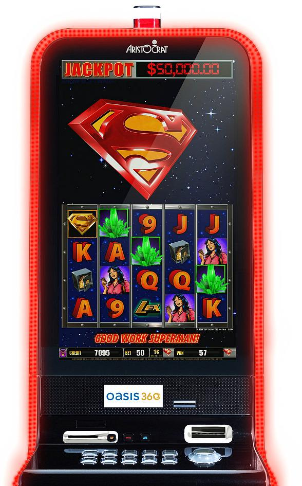 SUPERMAN: Aristocrat's New Comic Series Slot Machine