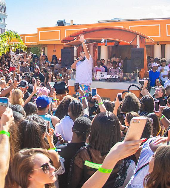 DJ Khaled performs at TAO Beach in Las Vegas