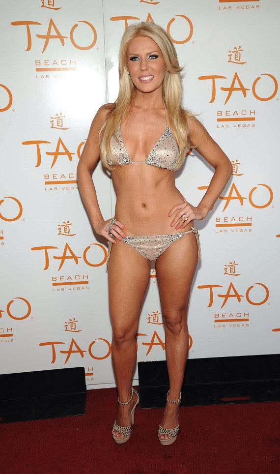Gretchen Christine Rossi on red carpet at TAO Beach